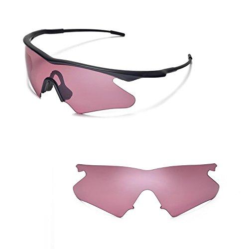 Walleva Ersatz Objektive Oder Objektive mit Schwarz Nosepad für Oakley M Rahmen Heizung-40Optionen erhältlich, Unisex-Erwachsene, Rose