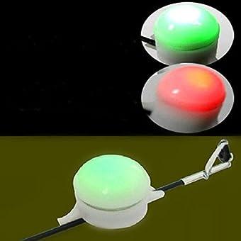 Bazaar Alarme de morsure de poissons électronique pêche tige LED lumière de pêche bout de la nuit