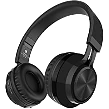Alihen BT-06 Swift Auriculares Estéreo Inalámbricos con Bluetooth 4.0, Micrófono y Control de Volumen + Cable de Audio. Compatible con la mayoría de Teléfonos / iPhone / Samsung / PC / Tv / Laptop (Negro)