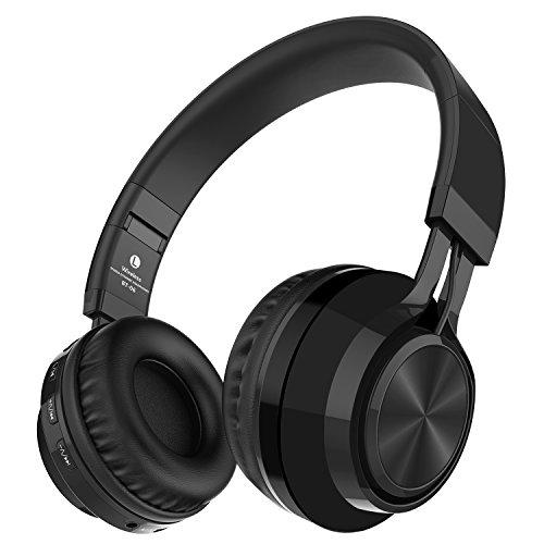 Alihen BT-06 Swift Auriculares Estéreo Inalámbricos con Bluetooth 4.0, Micrófono y Control de Volumen + Cable de Audio. Compatible con la mayoría de Teléfonos / iPhone / Samsung / PC / Tv / Laptop (Negro)