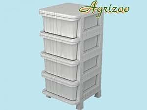 Mobiletto cassettiera modulare rattan 4 cassettiere bagno for Cassettiere su amazon