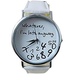 Zolimx Heiß Damen Leder Uhr Uhren Weiß