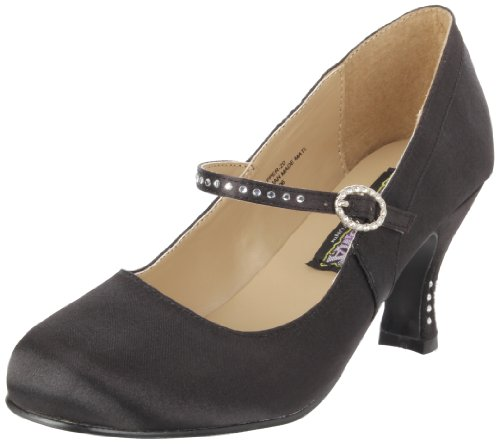 Pleaser Fla20/bsapu, Damen Pumps, Schwarz (Schwarz), 36 EU (3 UK)