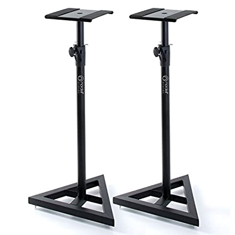 Nordell' Premium Floor Speaker Stand (Pair) for Studio Monitors and Hi-Fi Loudspeakers - Create Truer Mixes with Optimum Loudspeaker/Monitor Height and Positioning with Rotating Plate for