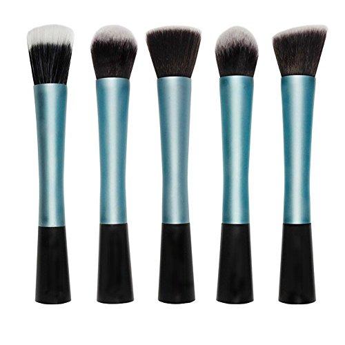 RoseFlower® Professionnel 5 Pcs Pinceaux Maquillage Trousse - Pro Make Up Cosmétique Brosse / Brushes Kit Pour Visage Blending Fondation Blush Eyeliner Poudre