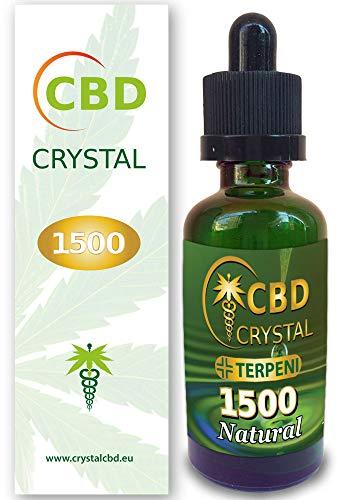 CrystalCBD 1500 Natural 50ml Sabor Neutro - Liquido