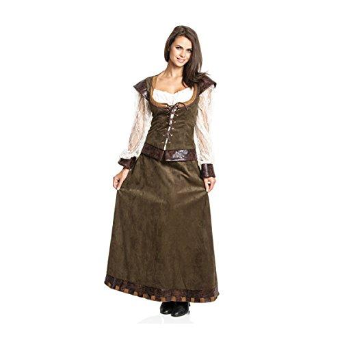 Kostümplanet® Mittelalter Kostüm Damen Burgfräulein Kleid mittelalterliche Kleidung 48/50 (Ritter Kostüm Kleid)