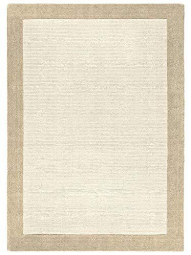 Benuta Naturfaserteppich für Wohnzimmer und Schlafzimmer Alfombra, Lana-Mezcla de Tejidos, Blanco, 60 x 120 cm