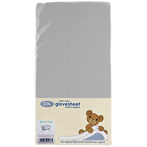 DK Glovesheets Spannbetttuch für Nachttisch Kinderbett Matratze–Grau