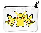 Three Pikachu Waving Reißverschluss-Geldbörse Brieftasche Geldbörse