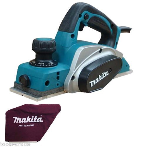 "Makita KP0800 3""/82mm Heavy Duty Planer 2mm Cut 620w 240V with Dust Bag & Blade"