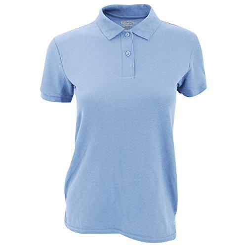 Gildan DryBlend - Polo Sport - Femme Bleu clair