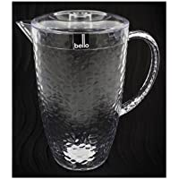 """Bello"" Clear Plastic Pitcher With Lid Great For Outdoor Dining, Picnics & BBQ's"