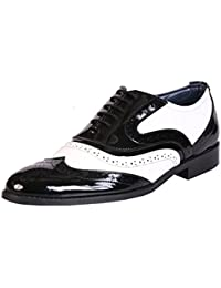 BXXY Black and White Mafia Oxford Brogues Shoes