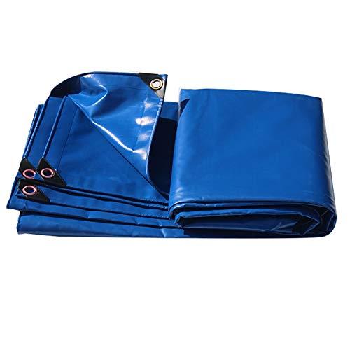 Plane verdicken Sonnencreme Regen Tuch Outdoor LKW leinwand wasserdicht Schatten leinwand Anti-Aging LIUDINGDING (Color : Blue, Size : 4 * 8m)