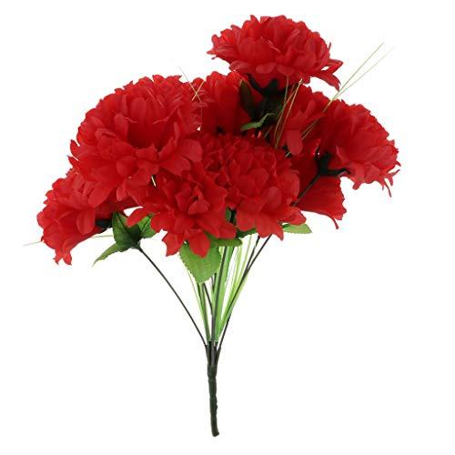 Baoblaze Seiden Kunstblumen Blumenstrauß Grabgesteck Grabschmuck für Totensonntag Allerheiligen und Trauerfeier