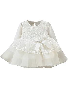 Floral Spitze Prinzessin Kleid Kleinkind Kinder, DoraMe Baby Mädchen Lange ärmel Party Kleid Bogen Hochzeit Kleider...