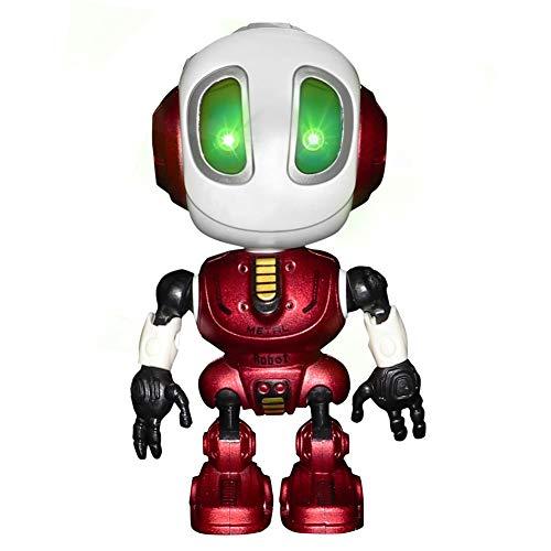 Mini Giocattolo parlante Robot interattivo Voice Changer Corpo in Metallo Regolabile Parlare Robot Giocattolo da Viaggio per Bambini (Rosso)