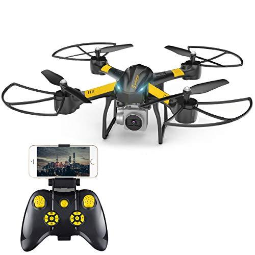 VIFLYKOO Drone per Principianti, Drone con videocamera HD per Video Live da riprodurre all'Interno / all'Esterno 2.4G modalità Headless a 6 Assi Treble Hold 3D Flip per Bambini e Principianti