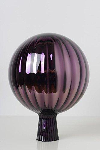 Rosenkugel aus Glas für den Garten - perfekte handgemachte Garten-Dekoration für Ihr Blumenbeetin vielen Farben, Formen und Größen, Hoche 18cm und Durchschnittlich 12cm, Lila