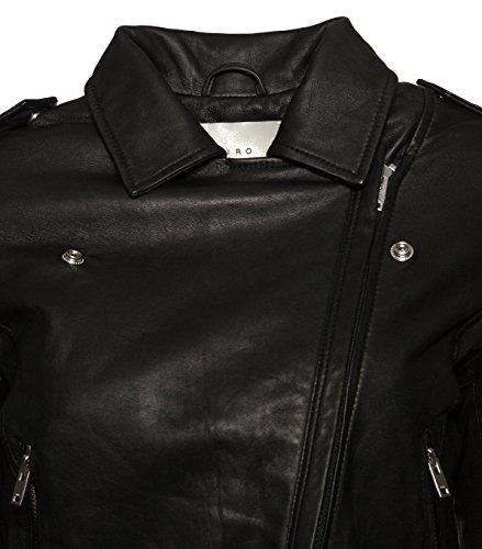 IRO Damen Lederjacke Gipsy Bikerjacke Jacke Leder – Leder – schwarz 01 black 40 - 3