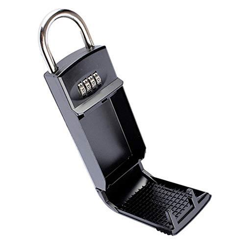DuDuDu 4 Digit Kombination Passwort Schlüssel Aufbewahrungsbox Organizer Sicherheit Tür Vorhängeschloss Sichere Zinklegierung Kostenlose Installation mit Hake