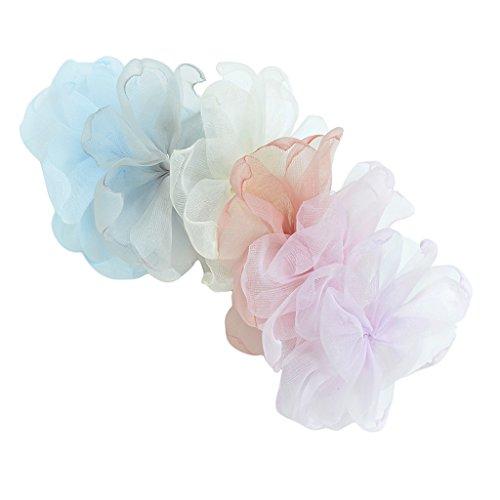 hiffon Blumen Künstliche Blütenköpfe Blumen Köpfe Mit Spitze Hochzeit Parteidekor DIY Basteln ()