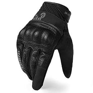 Leder//Textil Unisex Firefox Motorradhandschuhe kurz Motorrad Handschuh Sport Leder-//Textilhandschuh 1.0 Sportler Sommer