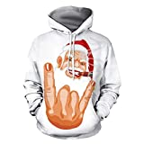 Bovake Weihnachten Unisex 3D Printed Kapuzenpullover Sweatshirt Mit Kapuze Hoodie Jacke Pullover Winterjacke Mantel Parka Freizeit Tops Casual Longsleeve