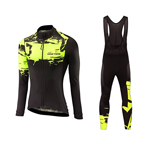 Uglyfrog Frühling/Herbst Frauen Radfahren Kleidung Set Fahrrad Anzug Outdoor Langarmtrikot+ Hose Atmungsaktiv Schnell Trocken