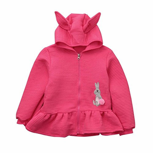 TWIFER Toddler Kids Baby Girls Hooded Coat Jacket Cardigan Tops Outwear Clothes