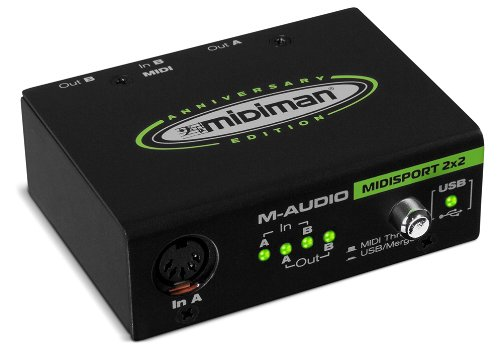 M-Audio Midisport 2X2 Anniversary Edition 2-In/2-Out USB MIDI Interface