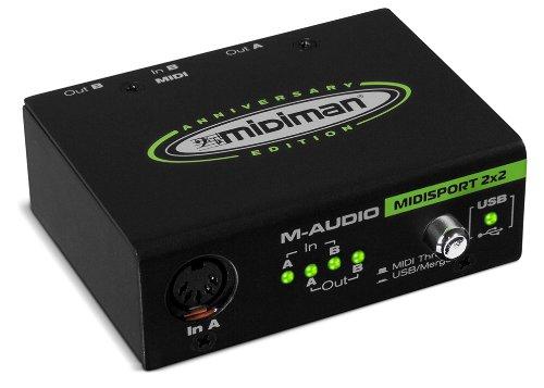 M-Audio Midisport 2x2 - Interfaz MIDI USB plug & play con 2 entradas y 2 salidas, Edición Aniversaria para Mac...