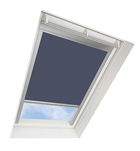 Tende avvolgibili da tetto darkona ® per le finestre da tetto velux - tenda avvolgibile oscurante - molti colori / molte dimensioni (606, blu) - telaio in alluminio argento