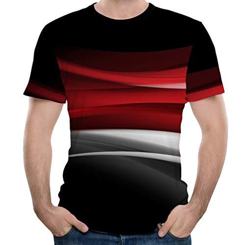 Liebespaar Tops,SANFASHION Herren Damen Mode Splash-Tinte 3D Druck Tees Shirt Kurzarm T-Shirt Bluse Tops Valentinstag Fuer ihn/sie - Mod Top Shirt