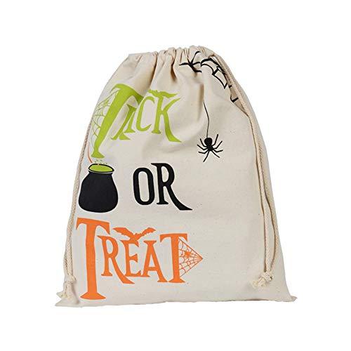 Qinlee Halloween Kordelzug Säckchen Süßigkeits Beutel Candy Bag Geschenktaschen Multifunktional Aufbewahrungstasche