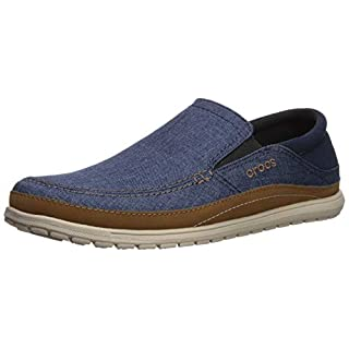 crocs Herren Santa Cruz Playa Slip-on Slipper, Blau (Navy/Cobblestone 4ft), 39/40 EU