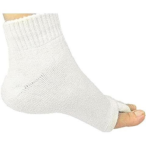 WINOMO Keep-fit massaggio calze Dita dei piedi comodi piede allineamento calzini Open-toe calze per uomo donna (Beige) - Divisori Di Fibra Divisori
