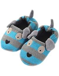 Butterme Neugeborenes Jungen M/ädchen Korallen Vlies Tier Schaf Prewalker Schuhe Winter warme Baby Aufladungs Krippe Schuhe Weiche untere Baby Schuhe