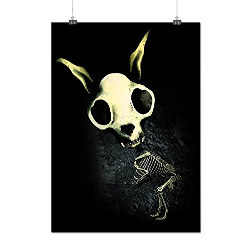 Hase Gesicht Tod Schädel Kostüm Mattes/Glänzende Plakat A3 (42cm x 30cm)   (Ziel Toten Kostüme Der Tag)