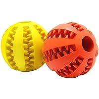 PET SPPTIES perro juguete bola no tóxica, Bite Resistente pelota de juguete para mascotas perros cachorro gato, perro tratar alimentos alimentador diente de limpieza bola PS003