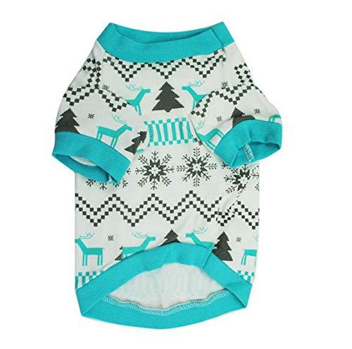 MUXIAND Weihnachten Schnee Hundebekleidung Hund T-Shirt Welpenbekleidung Pudel Yorkshire Terrier Baumwollmantel Haustier (Pudel Shirt Kostüm)