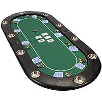 Riverboat Faltbare Pokerauflage mit grünem wasserabweisenden Stoff und Tasche - Pokertisch 200cm