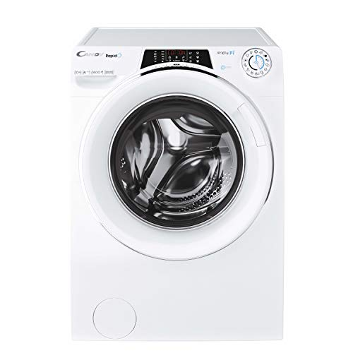 Candy RO16106DWHC7/1-S Waschmaschine Frontlader 10 kg, WiFi & Bluetooth, Inverter-Motor, Bedienfeld, Dampf, 9 schnelle Programme, 1600rpm, 51dBA, Klasse A+++-40% AA