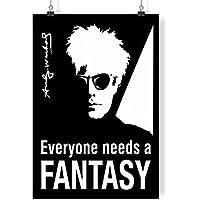 Andy Warhol - Everyone Needs A Fancy Black Background A4 digitale arte stampare parete arredamento manifesto