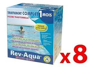Pack 8 mois traitement Mareva REV-AQUA piscine 18-30m³ Mareva 180001X8