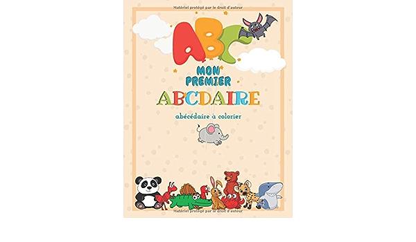 Amazon Fr Mon Premier Abcdaire J Apprends L Alphabet Avec Les Animaux Abecedaire A Colorier 8 5 X 11 Editions Bulle De Savon Livres