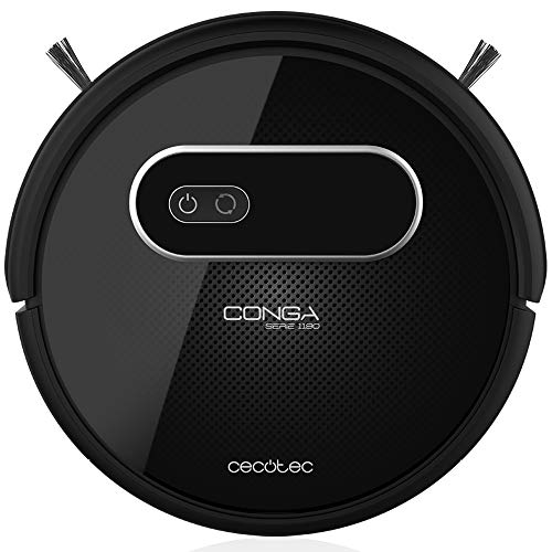 Cecotec Conga Series 1190 - Robot Vacuum Cleaner and Fregasuelos 4 in 1, Intelligent Mapping and Navigation, 6 Cleaning modes with MagneticStrip, 3 Scrubbing levels, Programmable