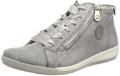 Rieker Damen M3041-41 High-Top, Grau (Cement/Grau-Silber 41), 40 EU