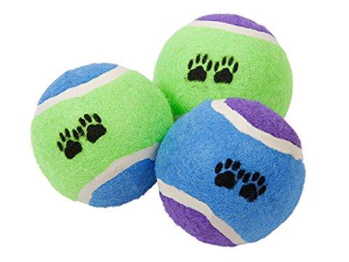 Alsino Hundespielzeug Tennisball Hundeball Spielzeug P087/115 Tennisbälle 3er Set Hundetraining
